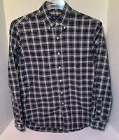 Ralph Lauren Mens Medium Long Sleeve Button Down Shirt Cotton Green Plaid