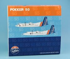 """JC Wings 1:200 Fokker 50 """"House Colour"""" Plane Diecast Aircraft Model PH-DMO"""