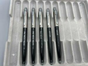 Vintage Parker JOTTER Ballpoint pen SET of 5 DEALER TESTER BRASS THREADS MINT