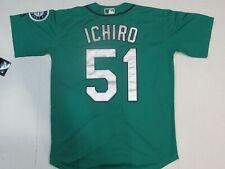 NWT Ichiro Suzuki #51 Seattle Mariners Cool Base Player Collection Jersey Green
