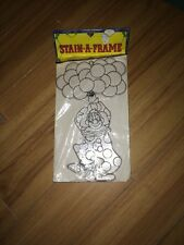 "Vntg Nos Stain A Frame Vintage 303-10 Clown Accento Craft 11"" Sun catcher Kit"