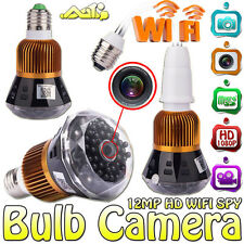 # WIFI 1080P HD Spy Hidden Camera LED Light Lamp Bulb Cam With Motion Detection