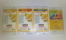 NEW AND SEALED. Pokemon Rare Promo Cards. Legendary Birds Set + Pikachu.