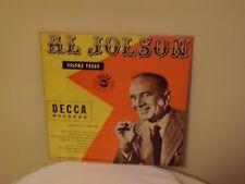 """AL JOLSON VOLUME 3"" 1949 DECCA RECORDS DLP 5030  10"" LP VG"