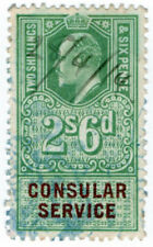 (I.B) Edward VII Revenue : Consular Service 2/6d