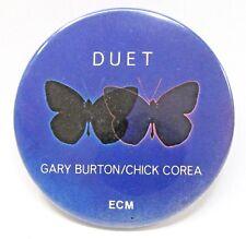 """1979 DUET Gary Burton / Chick Corea 2.25"""" pinback button ECM Records ^"""