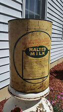 Vintage Thompson's Double Malted Milk LARGE 25 lb. Can Tin - Super Cool!