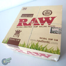 50x RAW King Size Slim Cigarette Paper Tobacco Rolling Papers Roller for smoker