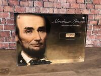 ABRAHAM LINCOLN SIGNED HANDWRITTEN WORD JSA AUTHENTIC HISTORIC DISPLAY