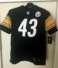 NIKE-NFL Authentic Stitched ELITE Jersey #43-Polamalu-Steelers- Size 44-Large