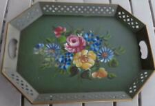 Nashco Tole Painted Decorative Tray - BEAUTIFUL TRAY - VERY OLD - MULTI-FLORAL