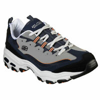 Skechers Men's D'Lites Low Top Sneaker Shoes Navy Orange Footwear Active Hiking