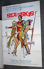 SNOW SKIING/SEXY NAKED BABES original 1972 movie poster SEX ON SKIS