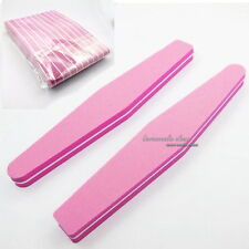 10 Pcs Nail Art Sanding Files Block Sponge Grit Salon Tools Set #100 #180 Pink
