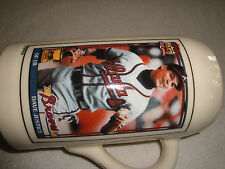 DAVID JUSTICE BRAVES TOPPS ROOKIE BALL 1 LITER BEER STEIN NUMBERED 1 OF 261 .