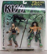 RARE! KISS Psycho Circus 2-Pack PETER CRISS / ANIMAL WRANGLER Action Figure MOC