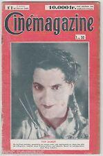 CINEMAGAZINE 1929. 9e année, N°8. Directeur de publication : Jean Pascal