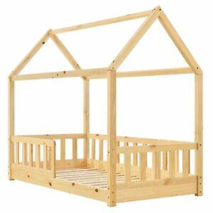 Kinderbett 80x160 cm Rausfallschutz Bett Haus Skandinavisch Juskys® - B-Ware