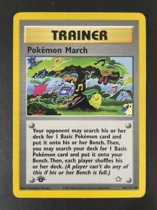 Pokemon March 102/111 1st First Edition Neo Genesis Pokemon PSA Ready