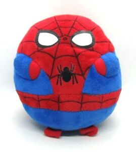 """Ty Beanie Ballz Marvel SPIDERMAN Superhero Medium 8"""" Round Spidey Ball 38531"""
