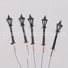 5PCS 1/200 1:200 LED Park Lanterns Street Lamp Model Railway Warm White LH-3