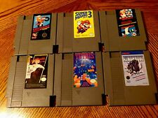LOT OF 6 GAMES - Nintendo System - Tetris Xenophobe Mario Bros Nightmare Elm St
