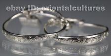 child baby longevity bracelet pair Tribal exotic chinese handmade miao silver