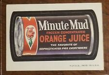 1973 WACKY PACKAGES SERIES 2 Minute Mud Orange Juice LUDLOW BACK