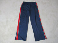 VINTAGE Tommy Hilfiger Track Pants Adult Extra Large Blue Red Spell Out 90s *