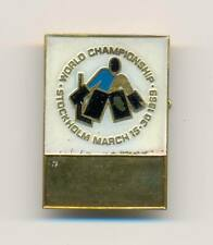 1969 Stockholm Sweden World Ice Hockey Championships official pin badge