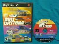 Nascar Dirt to Daytona Race-  PS2 Playstation 2 Rare Game Tested Works