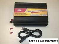 55 Amp RV Camper Power Converter Battery Charger Supply 55a 45a 110vac to 12vdc