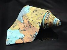 Bugle Boy Men's Tie 1980's Style Wild Retro Geometric Pattern