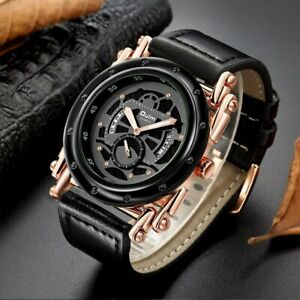 Mens Oulm Watch Casual Calendar Quartz Unique Design Luxury relogio masculino
