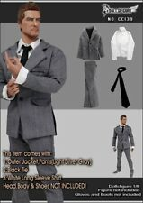 "Dollsfigure 1/6 Scale Grey Men's Suit Model (no shoes) For 12"" Male Body"