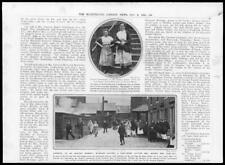 1910 Antique Print - LANCASHIRE Cotton Mill Crisis Lasses Workers Lock Out  (73)