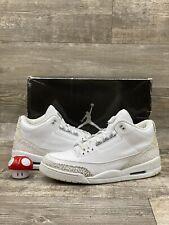 Nike Air Jordan Retro 3 III Pure Money White Silver Grey  Cement 13 136064-103
