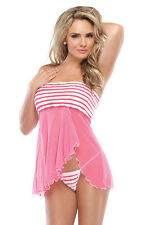 Sweet COQUETTE Pretty In Pink Babydoll - NWT - 1975
