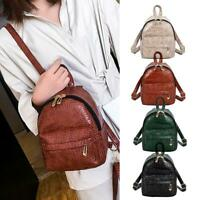 Women Alligator Pattern Leather Backpacks Retro Crossbody Shoulder Handbag Purse