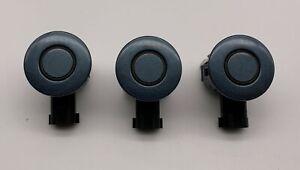 OEM 10-14 Lincoln MKZ Hybrid Steel Blue Rear Bumper Parking Object Sensors Set 3