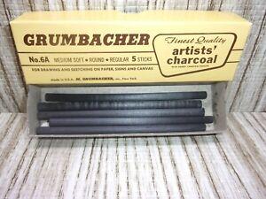 GRUMBACHER Vintage Artists Charcoal Sticks Sketching Medium Soft No. 6A