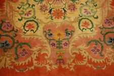 c1930s ANTIQUE MINT ART DECO CHINESE RUG 3x4.10 NATURAL VEGETABLE DYED COLORS