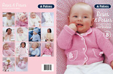 Patons Pattern Book #1313 Roses & Posies 8 Projects to Knit Babies 0-24 Months