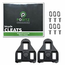 Positz Look Keo Cleats - 0deg Fixed Float, Black - For Road Bike Clipless Pedals