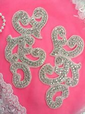 """0508-rd 0508 Crystal Rhinestone Red Sequin Beaded Applique 2/"""""""