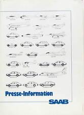 1985-86  SAAB 900 TURBO 16  DOSSIER DE PRESSE  EN ALLEMAND