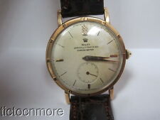 VINTAGE 14K GOLD MONTRES ROLEX CHRONOMETER E8438 DRESS MODEL WATCH MENS