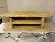 Hand Made Solid Wood Rustic Chunky TV Unit Standard/Corner