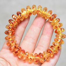 15x7MMChinese abacus bead bracelet wholesale flower amber& Artificial  amber