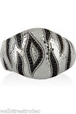 John Hardy Macan black sapphire large satement tiger rare sterling cuff bracelet